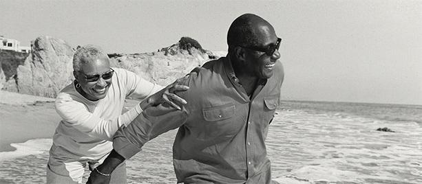 Senior African American couple on a beach
